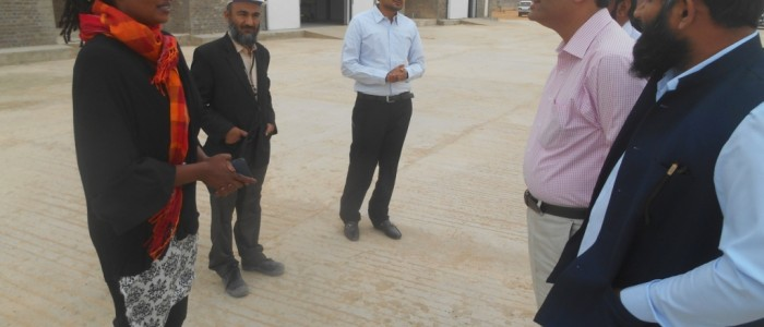 Head Provincial World Food Program Office Karachi, visited HRF at Hyderabad